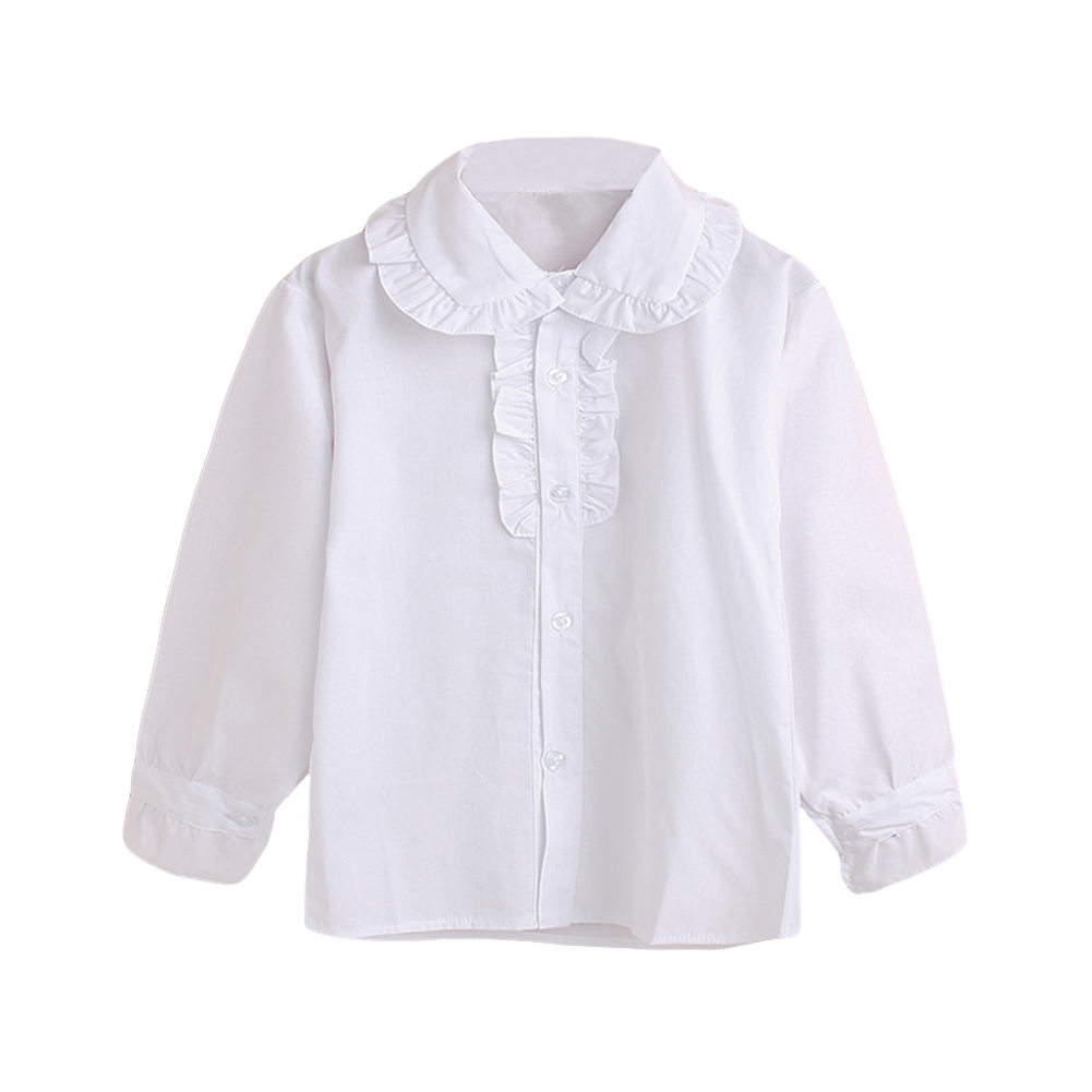 2016 Summer New Arrival Fashion Brand Children Clothing Kids White Shirts Baby Tops Girls Cotton Princess Blouse For 7-13Y(China (Mainland))