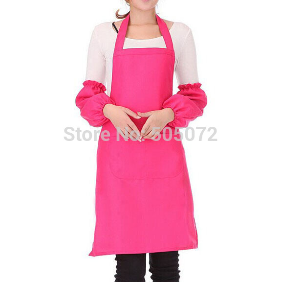 A8Free shipping!1pcs Antifouling Spun Poly Craft Restaurant Kitchen Bib Aprons With Pockets IB074 P31(China (Mainland))