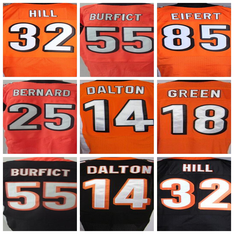 #14 Andy Dalton jersey # 18 AJ Green # 55 Vontaze Burfict #25 Giovani Bernard 32 Jeremy Hill 85 Tyler Eifert jersey(China (Mainland))