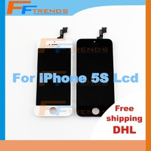 50 pcs/lot Free Ship DHL Original Lcd for iPhone 5S lcd Digitizer Screen Replacement Assembly lcd Retina + Earpiece Camera Lens(China (Mainland))