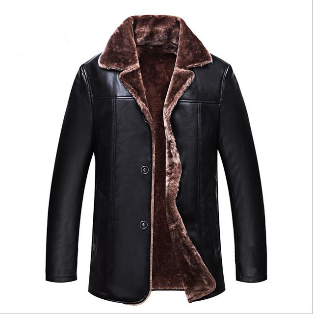 НОВЫЕ 2016 Мужчин С Длинным Новый Кожаная Куртка Jaquetas Couro Мужская Кожаная Куртка Из Натуральной Кожи Куртка Мужчины Мужской Зимняя Куртка Пальто