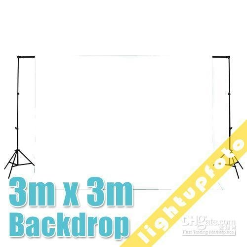 10ft x 10ft 3m x 3m White Photo Studio Solid Muslin Backdrop Background photography backdrops photo