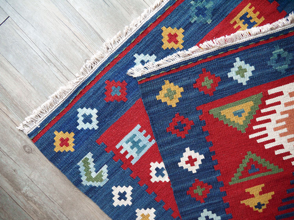 Kilim tapis promotion achetez des kilim tapis for Alfombras de algodon indias