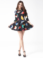 Free Shipping New Summer Style Print Dresses