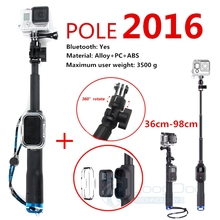 Go pro Accessories 98cm Handheld Monopod With WIFI Remote Housing And Tripod Mount Adapter For Gopro Hero 4 3+ xiaomi yi GP164