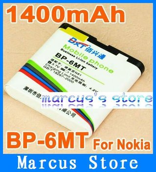 HK post Free shipping 1400mAh High Capacity BP-6MT Battery For Nokia 6720C E51 N81 N82 8G without retial package