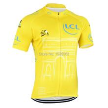 2015 tour de france Cycling Jersey short sleeve Men's tour de france 2015 cycling Clothing/shirts men yellow