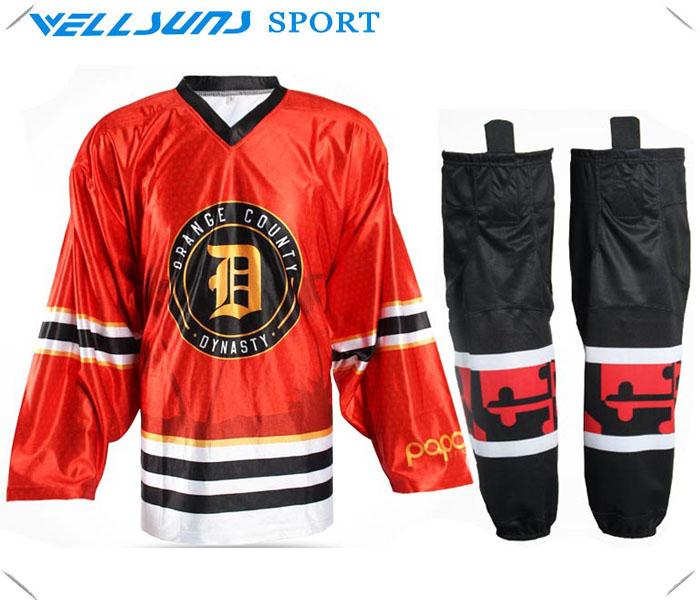 2016 custom sublimation ice hockey jersey for team /ice hockey socks(China (Mainland))