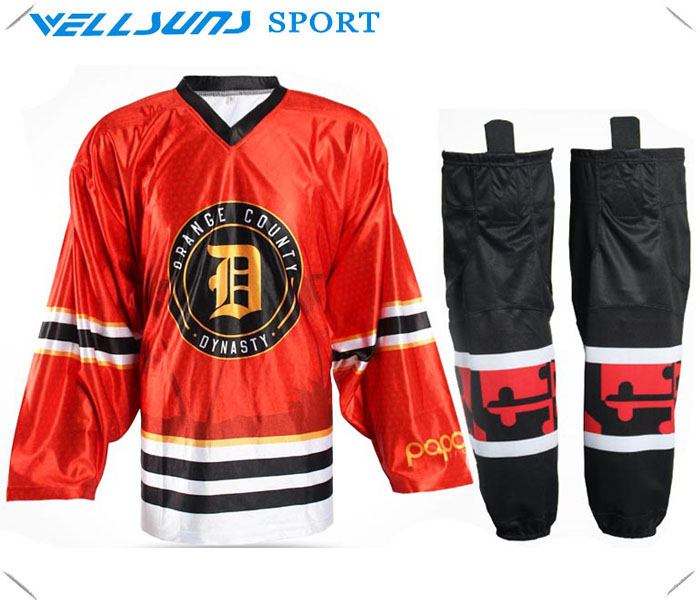 2016 custom sublimation ice hockey jersey for team /ice hockey socks(China (Mainland))