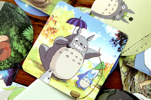46Pcs/set Mixed Funny Japan Ghibli / Miyazaki Animation Totoro PDA Decal Fridge Skateboard Doodle Stickers Toy Stickers