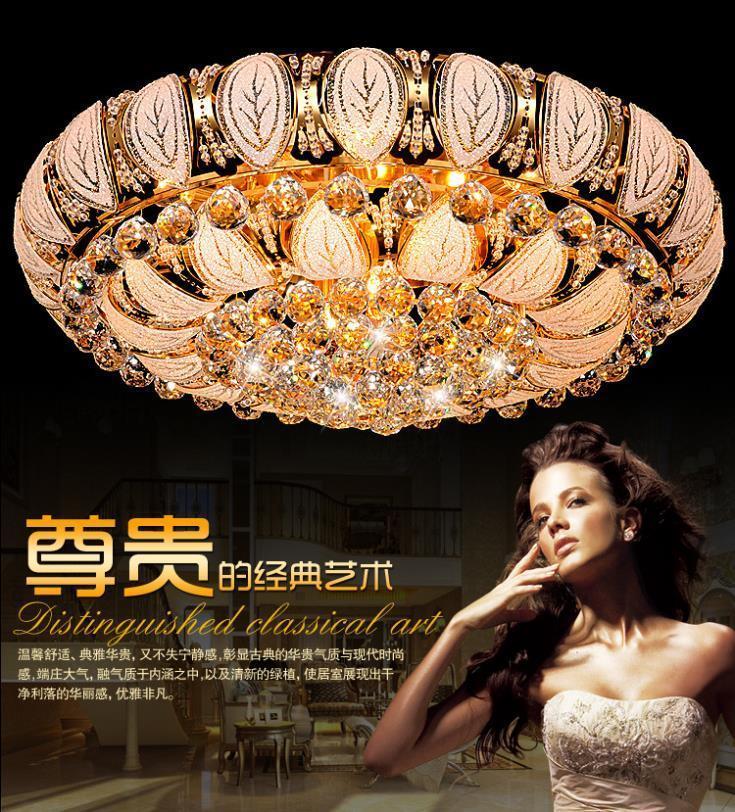Cornucopia of Golden Crystal lamp living room light LED  Chandelier modern stylish bedrooms are colorful Crystal light<br>