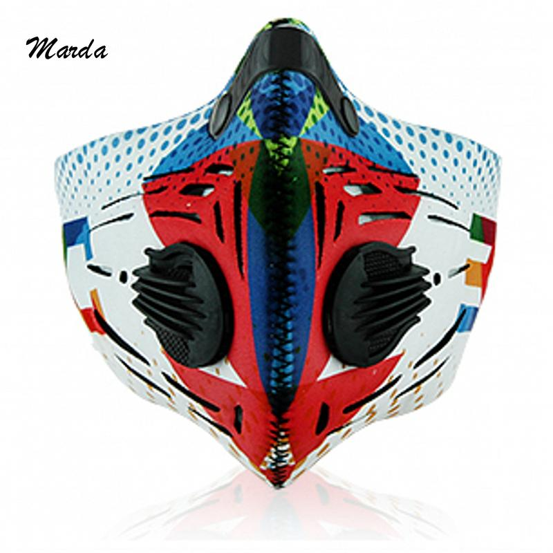 10Pcs/Lot Outdoor Smog Mask Sports Cycling Mask Neoprene Half Face Mask For Women And Men Bike Mask Filter Mascaras Ciclismo(Hong Kong)