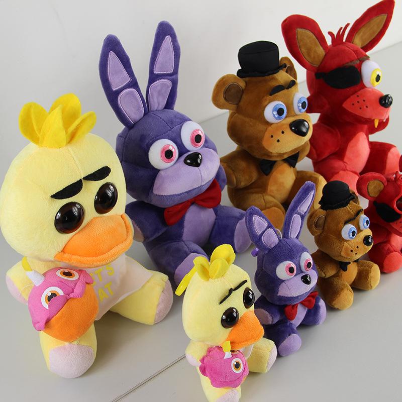 Five Nights At Freddy's 4 Kawaii Fnaf World Freddy Fazbear Bear Foxy Bonnie Chica Plush Stuffed Animal Kids Toys Peluche Doll(China (Mainland))