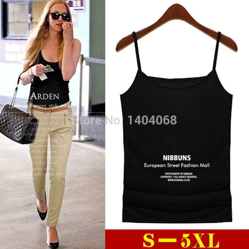 Summer Style Plus Size S 5XL Fashion Women Tank Top Vest Shirt Cotton Modal Underwear Spaghetti Strap Fitness Bustier Crop Tops(China (Mainland))