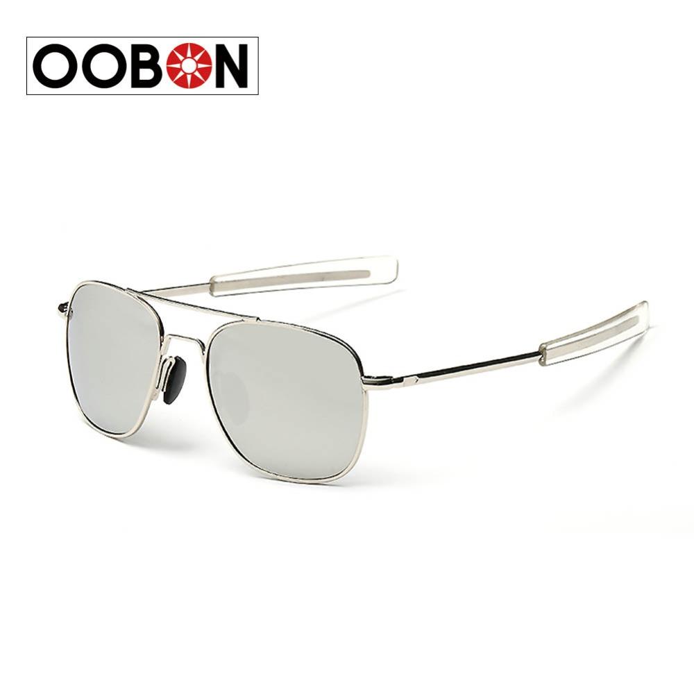 OOBON 2016 New Glass Lens Sunglasses High Quality US Air Force Sunglasses Men Brand Driving Sun Glasses Oculos de sol Summer(China (Mainland))
