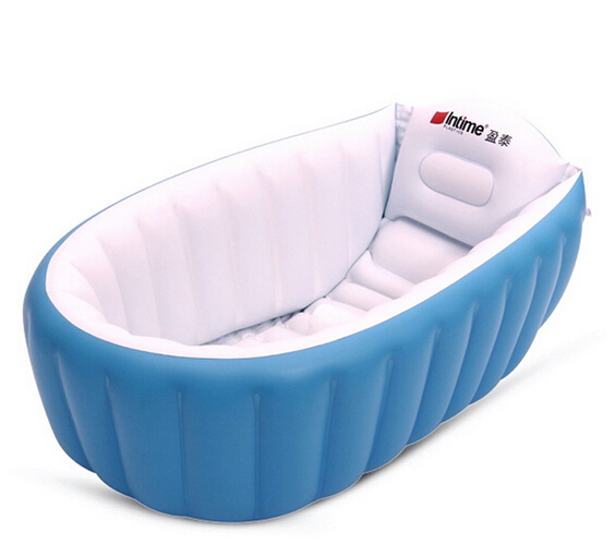 tronge design Inflatable Baby Bathtub Inflating Bath Tub for Toddlers Kid Protable Swimming Pool Newborn Infant Bath Seat Chair(China (Mainland))