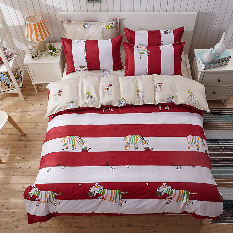 2016 New Pattern Cotton Blending Bedding Sets Children's Duvet Cover Set Boy Girl Cartoon Bed Cloth Twin Full Queen King Size(China (Mainland))