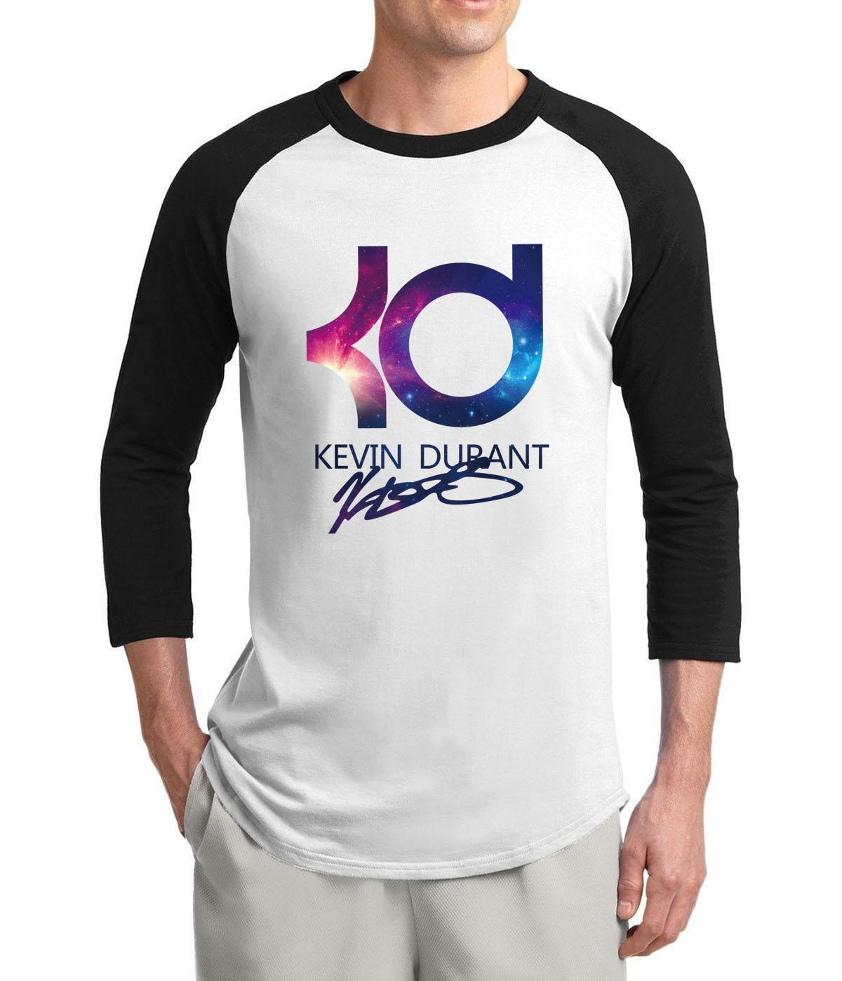 For Fans Kevin Durant KD USA 2017 new summer three quarter sleeve men t shirt 100% cotton high quality slim raglan t-shirt S-2XL(China (Mainland))