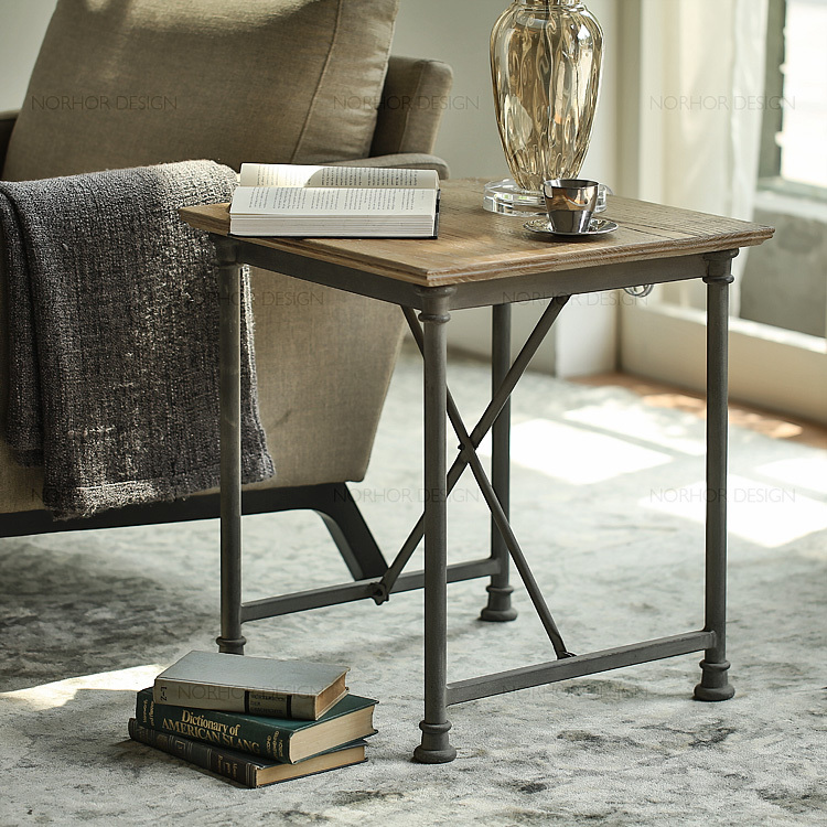 French Mining Retro Style Coffee Table Made Of Old Wood