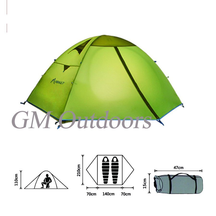 HOT SALE !! 2 - 3 Person Man Family Dome Tent Waterproof Light Weight 3 Season Uses For Climbing / Outdoor / Camping / Hiking(China (Mainland))