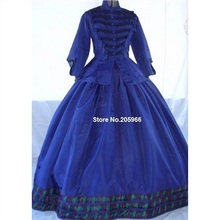 Victorian Period Gown Prom Reenactment Long Dress