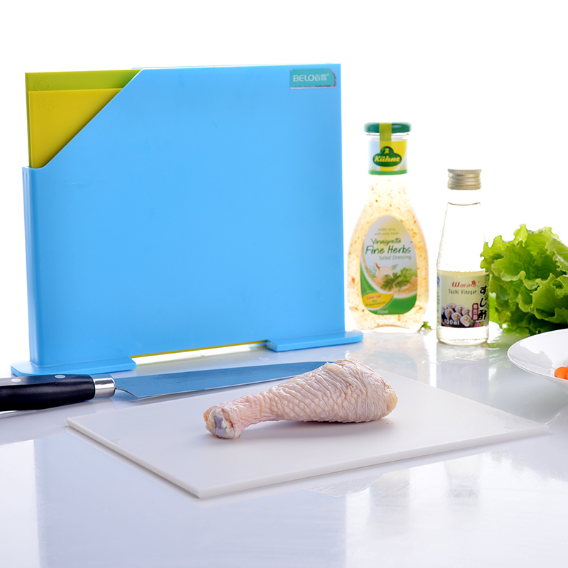 3pcs/set Thick Plastic Chopping Block cutting mat Non-slip Antibacteria Cutting Board with holder kitchen accessories
