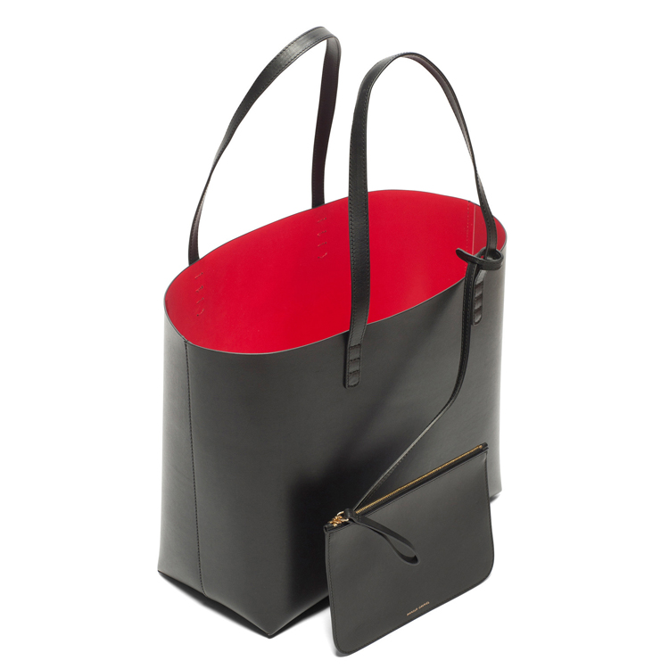 NEW Mansur Gavriel Tote bags real leather cowhide single shoulder bag handbag tote bag in shopping bags(China (Mainland))