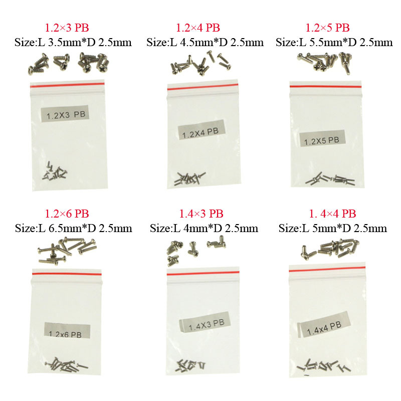 10pcs/set Replacement Flat Head Screws Parts for RC Drone Quadcopter Helicopter Syma X5 X5C 107G Wl V911 Free Shipping(China (Mainland))