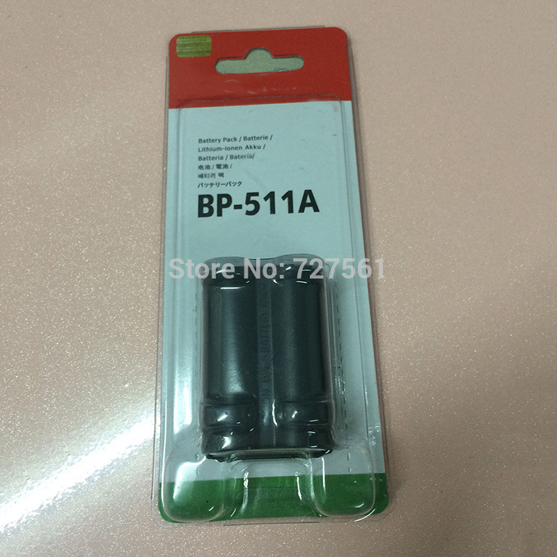 BP-511A Batteries BP 511A BP511A 511 Rechargeable Lithium Camera Battery For Canon EOS 300D 10D 20D 30D 40D 50D D30 D60 5D G6(China (Mainland))