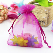 Buy 100pcs/lot Hot Pink Organza Bags Favor Wedding Candy New Year Gift Bag Kids 5x7cm Sweets Packaging Pouches for $5.61 in AliExpress store