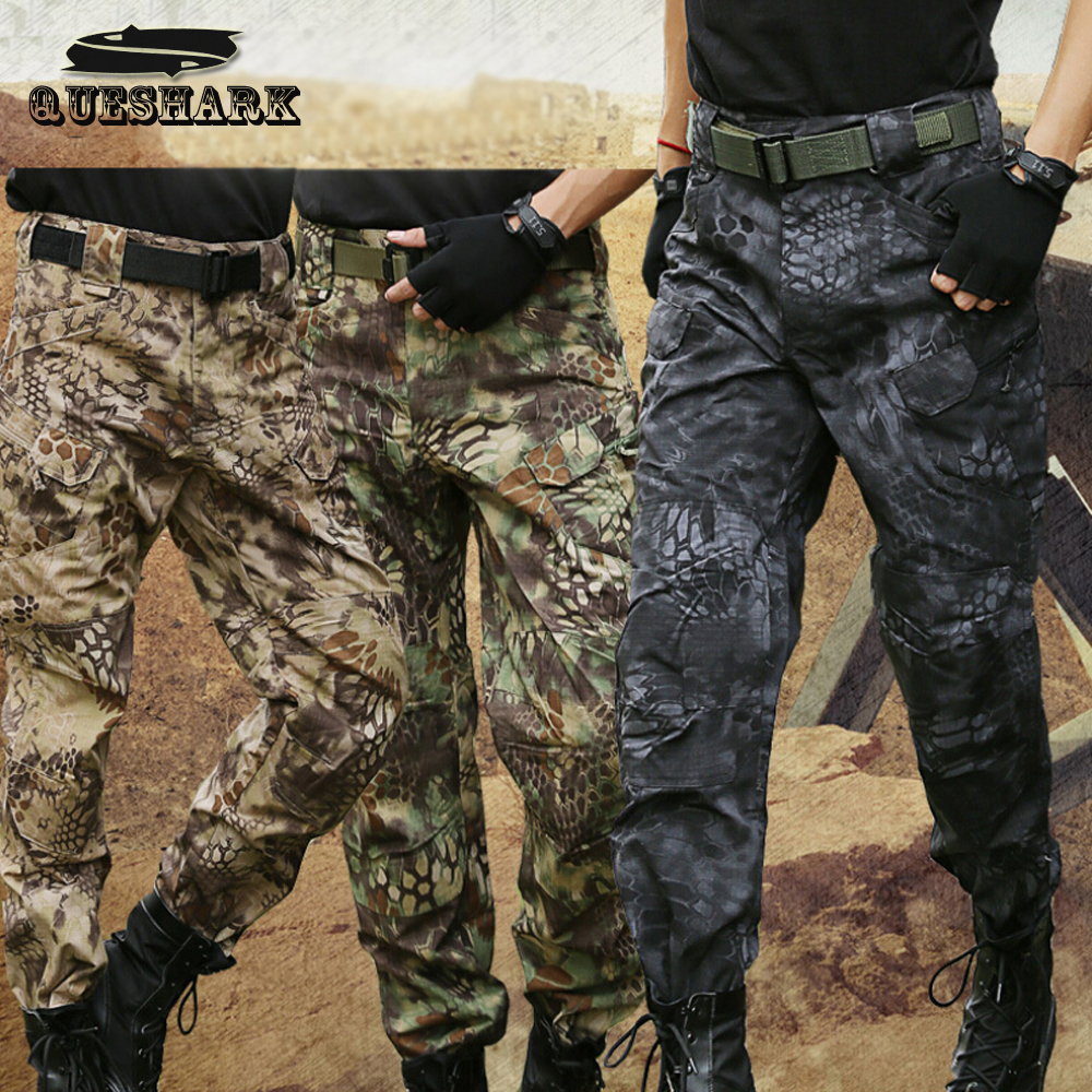 Men Military Outdoors City Tactical Pants Hunting Camouflage Army Cargo Pants Multicam Militar Training Combat Trousers