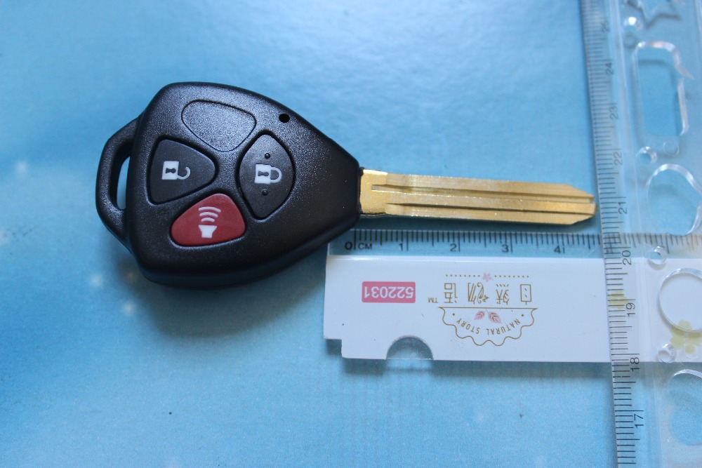 High Quality 3 Button Car Key Blank Toyota Camry Key Case 2+1 Buttons Remote Shell(China (Mainland))