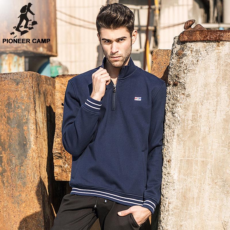 Pioneer Camp.Free shipping!2016 new fashion spring mens hoody sportswear coat fleece sweatshirt brand clothing hoodies male