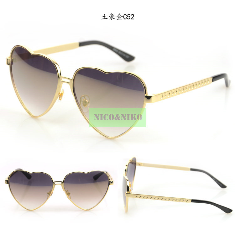 Buy 5 Colors Lovely Heart Frame Coating Glasses Eyewear 2015 New Vintage