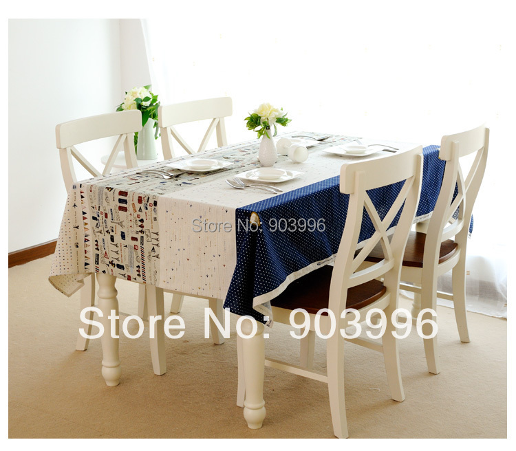 Free shipping-Travel around the world Korean flax fabric cloth(140*180cm)only 1pcs table cloth(China (Mainland))