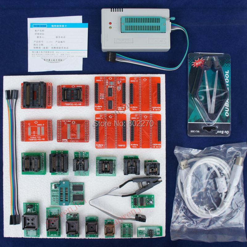 Tl866a программер EPROM SPI AVR PIC ICSP в цепи программирования 24 компоненты включают 25 рассеиватель и 1.8 В вспышка адаптер