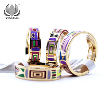 Hurry! Brand Product Hot Selling Newest Wide Gold Plated Stainless steel Enamel Jewelry Rings Promotions