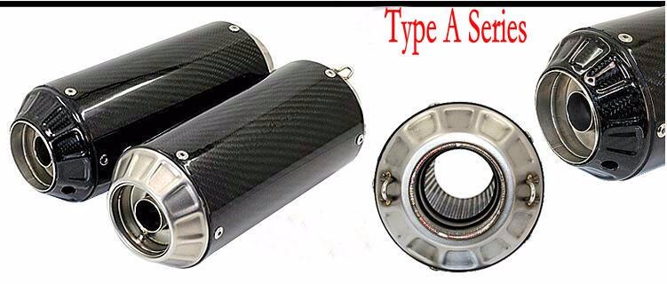akrapovic yoshimura stainless steel carbon fibre motorcycle exhaust escape moto z750 z1000 cb400 cbr125 bn600 bn300 db killer