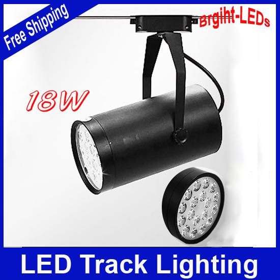 10pcs/lot 18W led track lighting AC110V/230V aluminum white and black shell rail ceiling light High Quality Free Shipping<br><br>Aliexpress