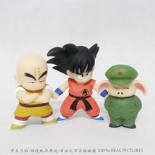 Buy Anime Cartoon Dragon Ball Goku+Kuririn+Oolong PVC Action Figure Cartoon Collection Model Toy set 3pcs/lot Free for $13.43 in AliExpress store