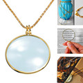Superior 6x Magnifier Pendant Necklace Magnify Glass Reeding Decorativ Monocle Necklace Nice Gift Free Shipping Sep