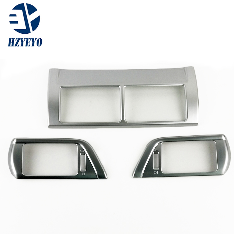 HZYEYO Auto interior air conditioning vent trims Toyota Camry 2015,ABS chrome,auto accessories,D8203