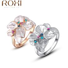 Roxi Exquisite rosa de ouro colorful anel de zircão aaa, Moda jóias para mulheres, Melhores presentes de natal 2010228290