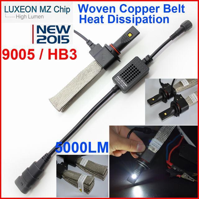 1set 9005 HB3 40W 5000LM Cree/PHILIP 5th Generation LED Headlight Kit Car Driving Lamp Bulbs 6000K White H1 H3 h7 H8 H11(China (Mainland))