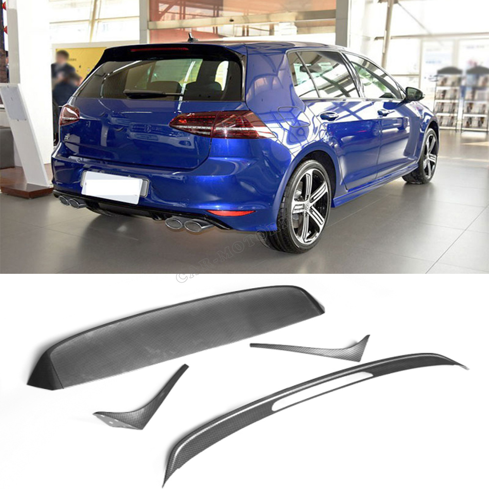 Golf VII Carbon Fiber R Style Auto Car Rear Trunk boot lip Spoiler for Volkswagen VW standard GOLF VII MK7 2014UP(China (Mainland))