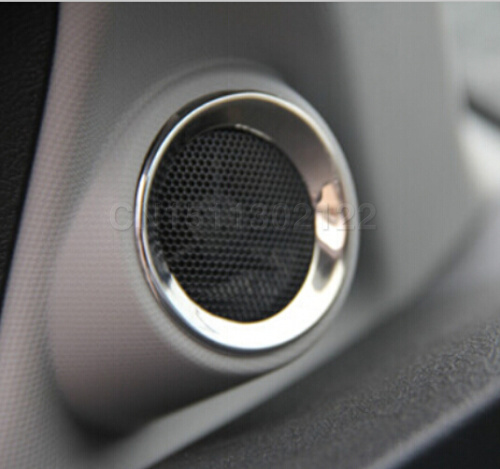 ABS chrome trim audio ring car stickers door speaker decoration circle cover For Honda civic 9gen 2013 2014 auto parts(China (Mainland))