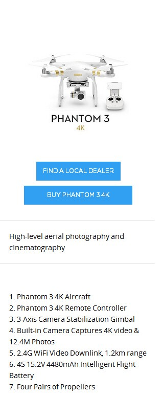 DJI Phantom 3 4K Version Camera Drone with 12MP Lens 3-axle Gimbal WIFI and 25 Minutes Flying GPS 2016 Newly Releasing Stock