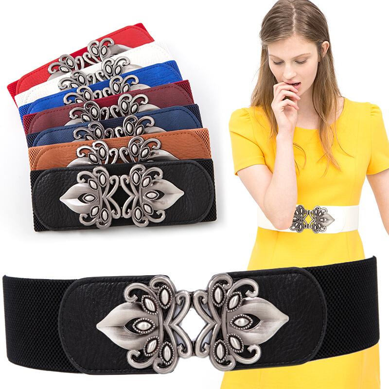 Female Waist Elastic Waist Belt Lady Dress Skirt Waist Chain Women High Quality Buckle Waist Belt Fashion Waistband B-3562(China (Mainland))