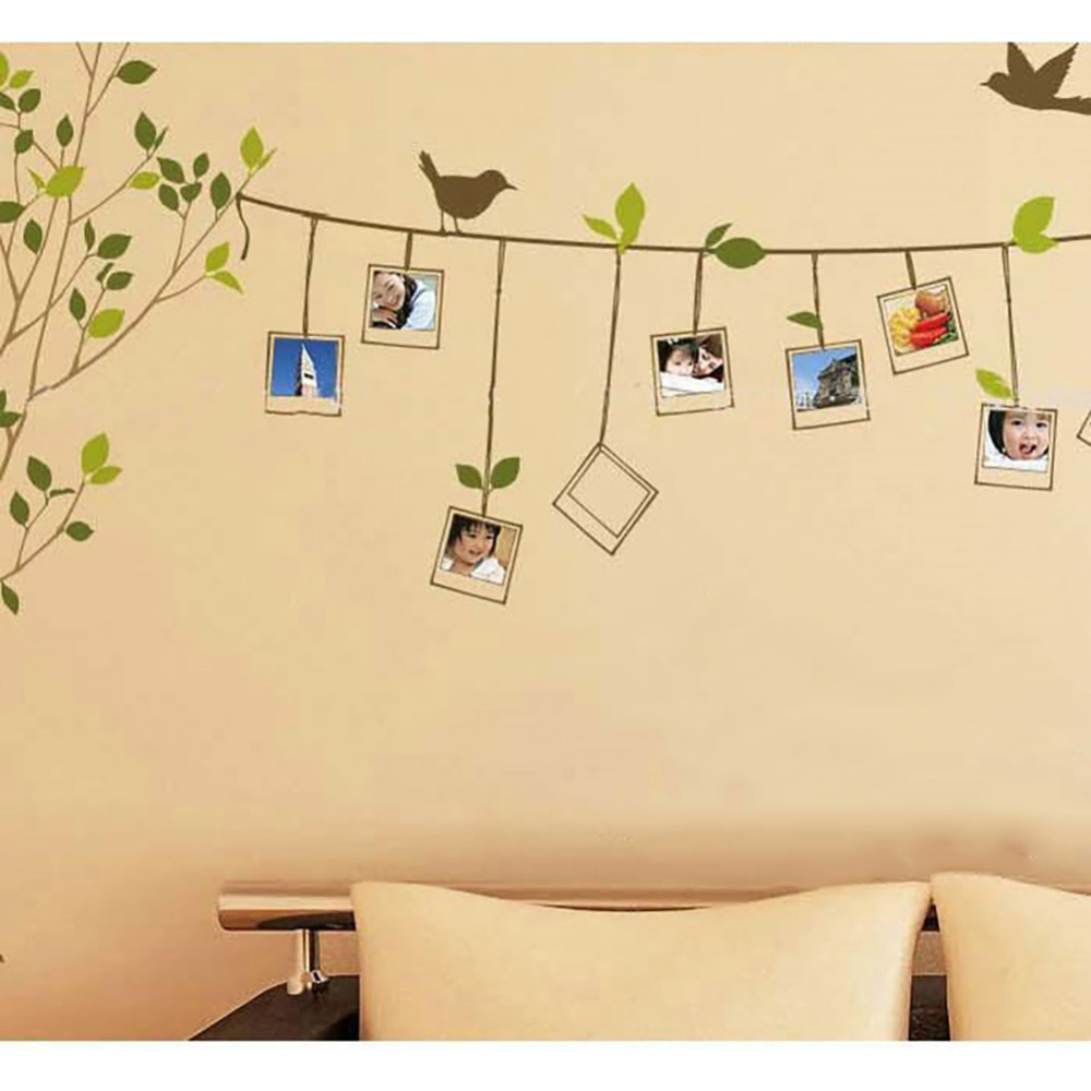 120 86cm 3d diy photo tree wall stickers removable for Diy tree wall mural
