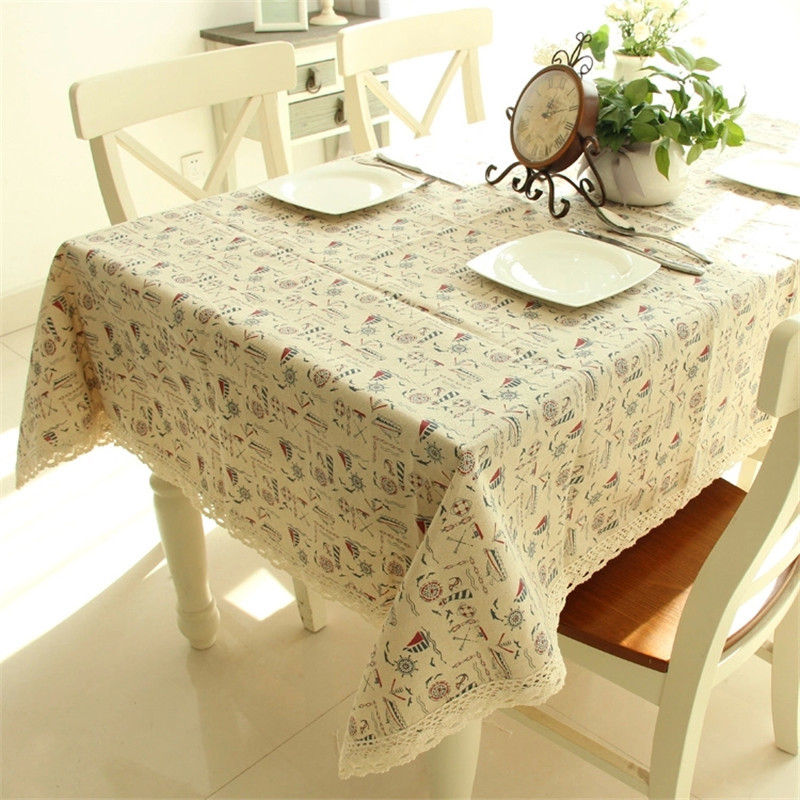 Sale!Postoral Linen and Cotton Oilproof Table Cloth Cotton Tea Table Cover Book Tablecloths Customized Size Free Shipping(China (Mainland))